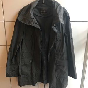 Cole Haan Dark Navy Blue Rain Jacket